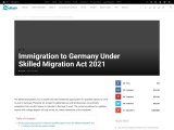 Immigration to Germany Under Skilled Migration Act 2021