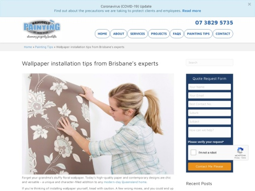 Wallpaper installation tips from Brisbane's experts
