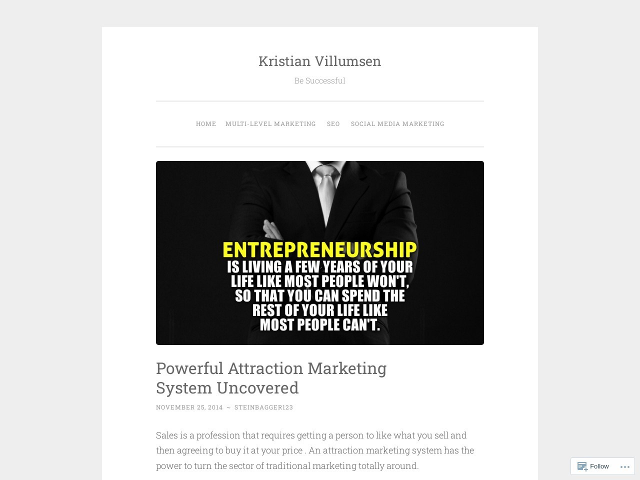 Powerful Attraction Marketing System Uncovered | Kristian …