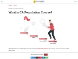 What is CA Foundation? How to Register and What's the Syllabus?
