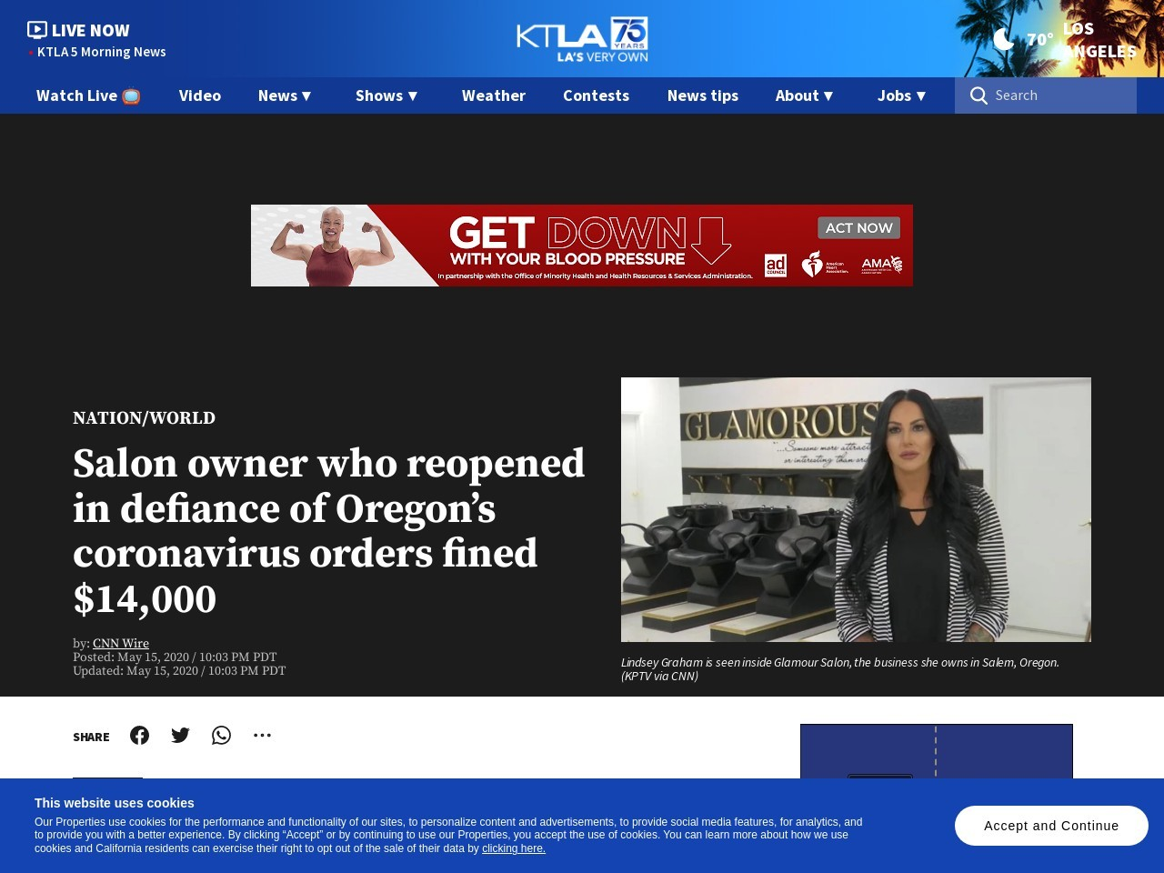 Salon owner who reopened in defiance of Oregon's coronavirus orders fined $14,000