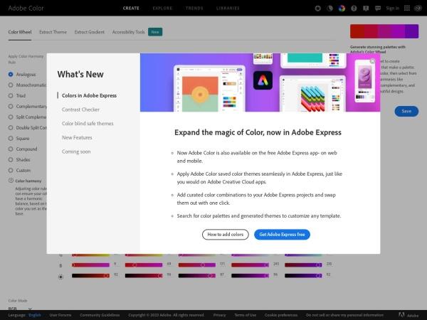 https://kuler.adobe.com/create/color-wheel/