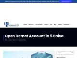 How to Open Demat Account in 5Paisa