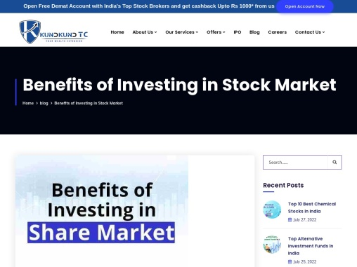 Benefits of Investing in Share Market