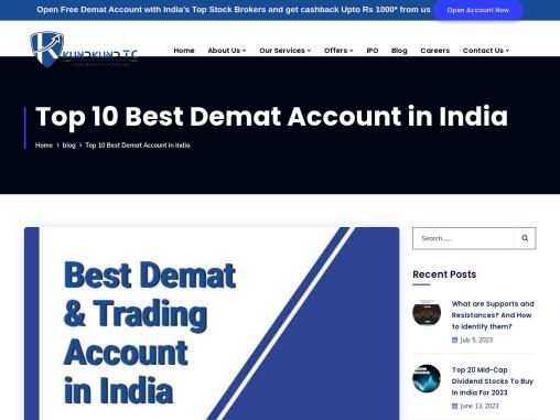 Top 5 Best Demat Accounts in India