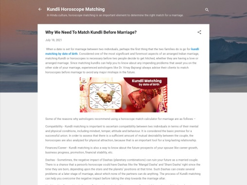 Match Kundli Before Marriage – Free Horoscope Match Calculator – Janam Kundli Analysis