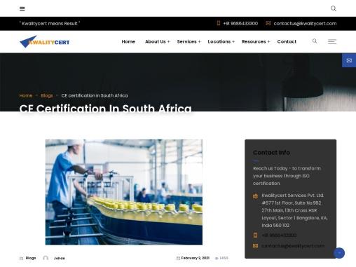 CE certification in Pretoria   CE consultants in Pretoria   Kwalitycert