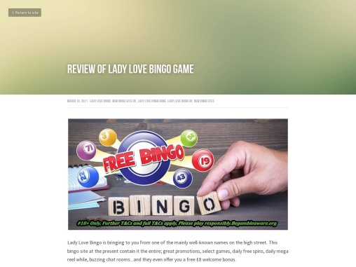 Review of Lady Love Bingo Game