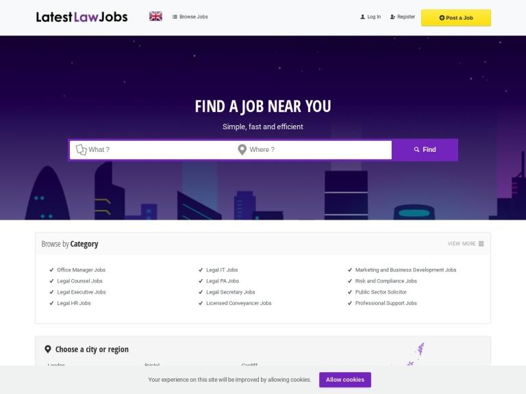 Latest Law Jobs screenshot