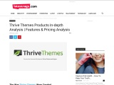 Thrive Themes Products In-depth Analysis | Features & Pricing Analysis