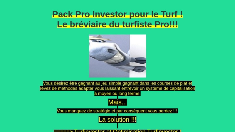 pack pro investor pour le turf