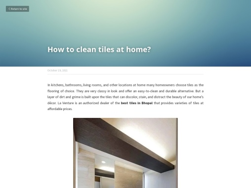 How to clean tiles at home?- LaVenture