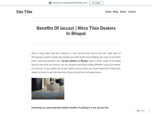 Benefits Of Jacuzzi   Nitco Tiles Dealers In Bhopal