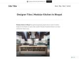 Designer Tiles   Modular Kitchen In Bhopal