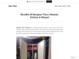 Benefits Of Designer Tiles   Modular Kitchen In Bhopal