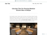Calculate Tiles For Flooring  Modular Kitchen Ware In Bhopal