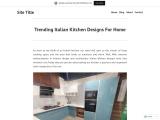 Trending Italian Kitchen Designs For Home