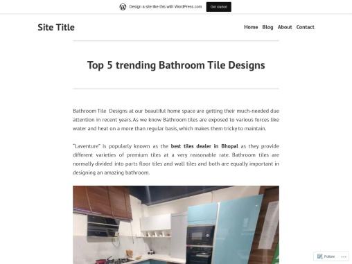 Top 5 trending Bathroom Tile Designs