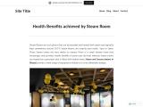 Health Benefits achieved by Steam Room