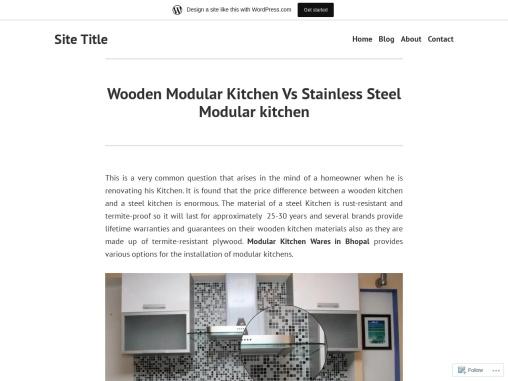 Wooden Modular Kitchen Vs Stainless Steel Modular kitchen