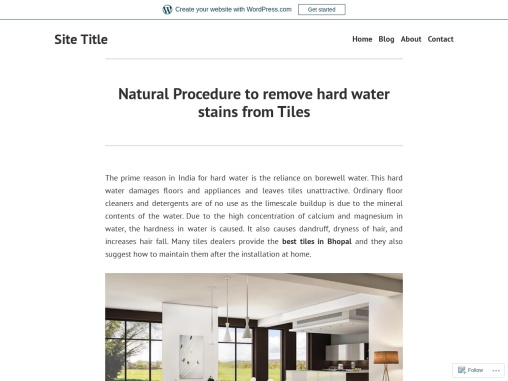 Natural Procedure to remove hard water stains from Tiles