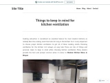 Things to keep in mind for kitchen ventilation