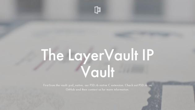 Beispiel-Screenshot für Flat Webdesign von https://layervault.com/