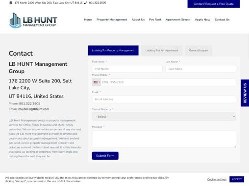 commercial property manag salt lake city|LB Hunt Management Group | Real Property Management Company