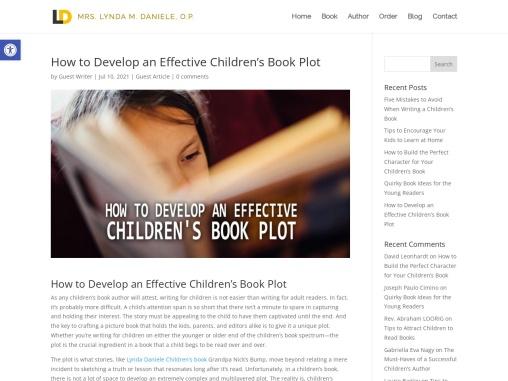 How to Develop an Effective Children's Book Plot By Lynda Daniele