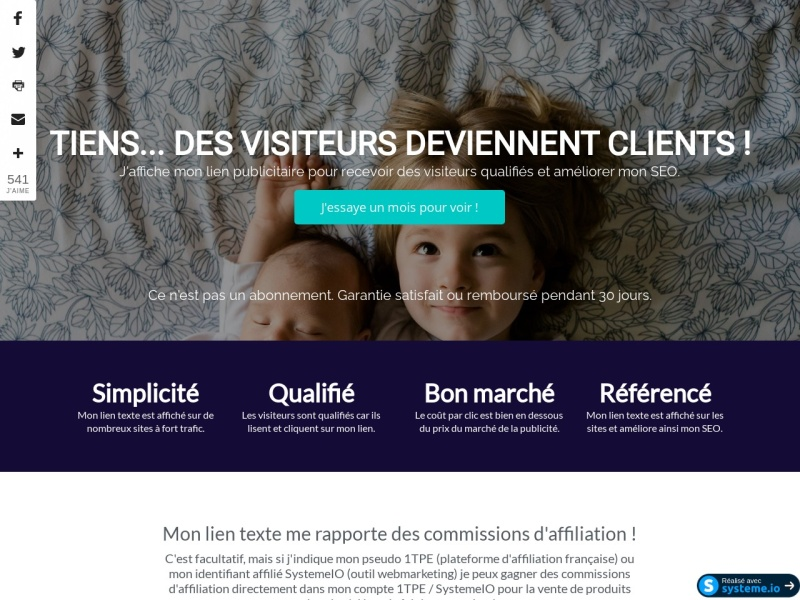 club affiliation facile -pub: 1mois -plugin wp