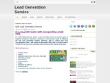 I will do b2b lead generation work with prospecting email lists