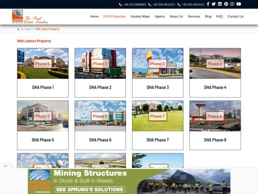 DHA Properties Lahore – Lahore Real Estates | Leads Estates