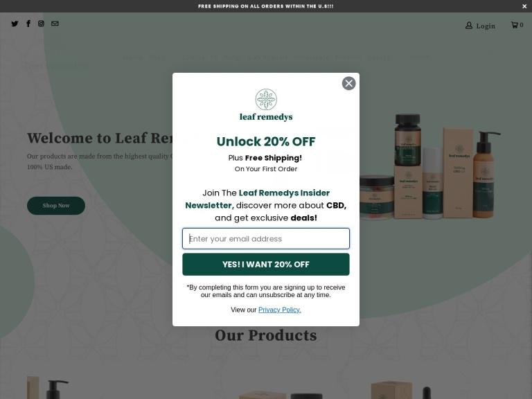 Leaf Remedys Cbd screenshot