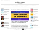 Class 10 Science MCQ Questions of Periodic Classification of Elements with Answer