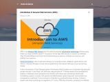 Introduction of Amazon Web Services (AWS)