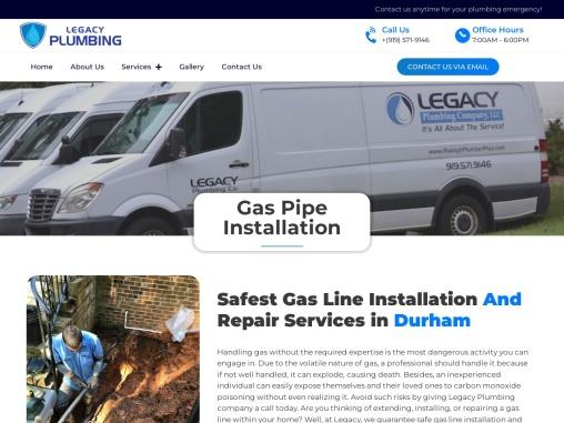 Safest Gas Line Installation And Repair Services In Durham