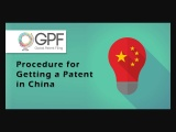Procedure for Getting a Patent in China