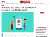 What Do You Need to Know Before Investing in a Mobile App?