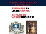 FORMATION BUSINESS EN LIGNE GAGNA