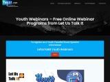 Youth Webinars Online   Register for Youth Webinars – Let Us Talk It