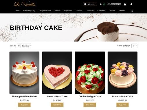 birthday cake delivery online | send birthday cake to kolkata- Levanilla