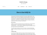 How to lose belly fat – Diet, eating habits, exercise