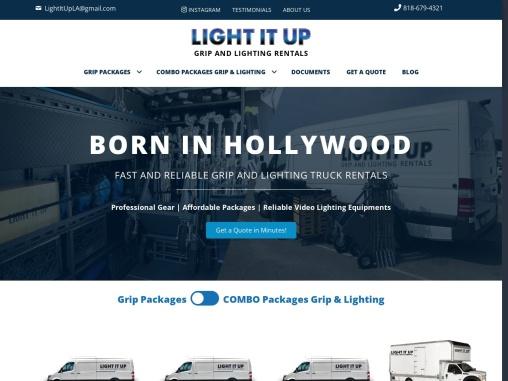Video Lighting Rental Services in Los Angeles