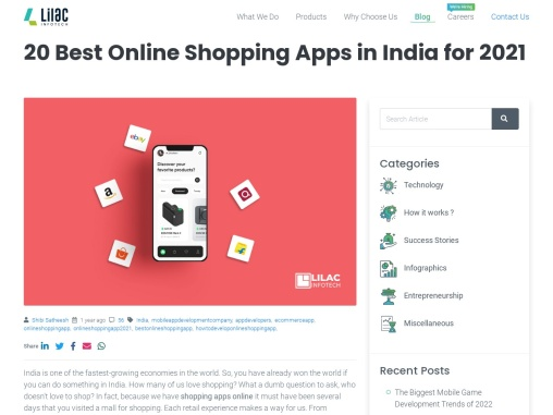 20 online shopping apps in India