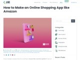 How to make an online shopping app like Amazon