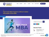 Fast Track MBA Programs Online in Dubai – Affordable Online MBA