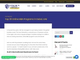 Top 15 Online MBA Program in Dubai, UAE – 2021