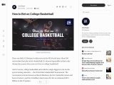 How to Bet on College Basketball