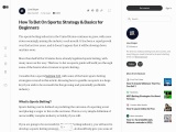 How To Bet On Sports: Strategy & Basics for Beginners
