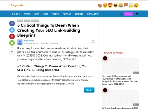 – 5 Critical Things To Deem When Creating Your SEO Link-Building Blueprint